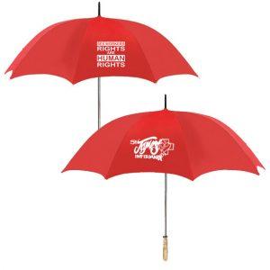 SJI red umbrellas